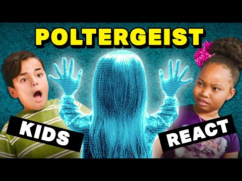 Kids Watch Poltergeist For The First Time (Try Not To Get Scared Challenge)