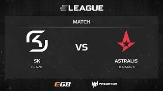 SK vs Astralis, map 1 overpass, ELEAGUE Season 2