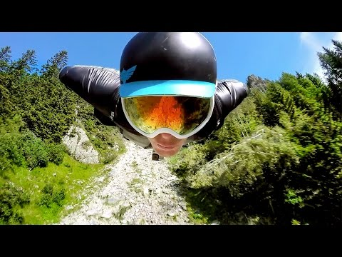 Wingsuit Flight Down French Mountain