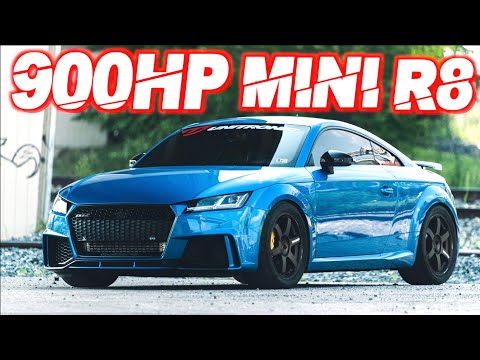 Audi TTRS on STEROIDS! 900HP Brutal Launch 0-60MPH 2.0s (Chasing 8s 1/4 Mile on the Street)