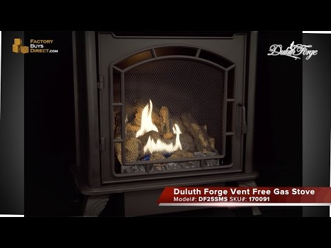 Duluth Forge 23,000 BTU Vent Free Gas Stove - Model DF25SMS