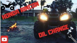 7. Honda Rincon 680 oil change