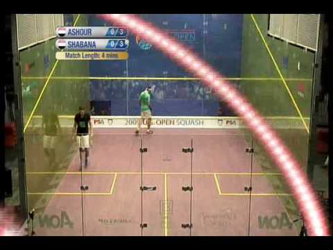 final us open ashour vs shabana 2009 (1er set )