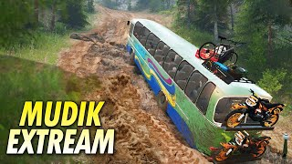Video Tanjakan Maut Bus Als Gagal Mudik - Spintires Offroad MP3, 3GP, MP4, WEBM, AVI, FLV Juni 2018