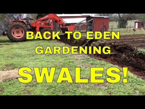 BACK TO EDEN GARDEN~SWALES FOR EROSION CONTROL