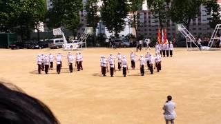 송도고등학교 JROTC 창단식 기념 의장대 군무