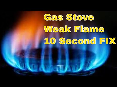 ✨🔥 Gas Stove -- Weak Flame -- 10 Second FIX 🔥✨