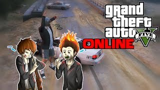 Police Bicycle Chase & Stupid Joggers! - GTA 5 Online