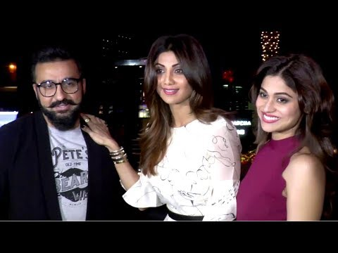 Shilpa Shetty ,Raj Kundra & Shamita Shetty Spotted At Yauatcha Restaurant For Dinner