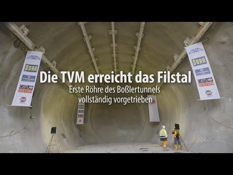 Boßlertunnel - Durchschlag im Filstal