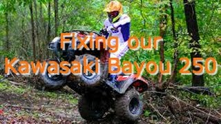 5. An ATV is a needed homestead tool: Kawasaki Bayou 250 Diagnostics and Repair
