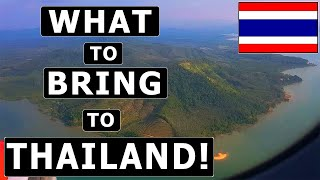 Video 8 Things TO BRING (and NOT TO BRING) to THAILAND! - Packing Guide & Recommendations MP3, 3GP, MP4, WEBM, AVI, FLV Juli 2019