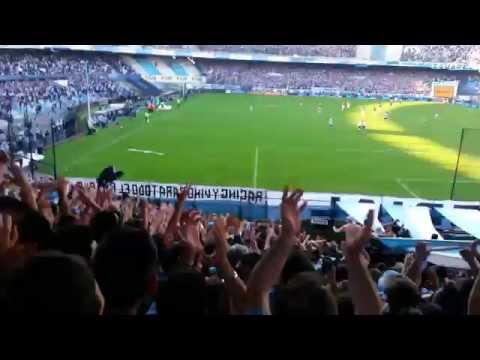 Video - Racing 2 - San Lorenzo 0 - Gol Castillon desde la hinchada - La Guardia Imperial - Racing Club - Argentina