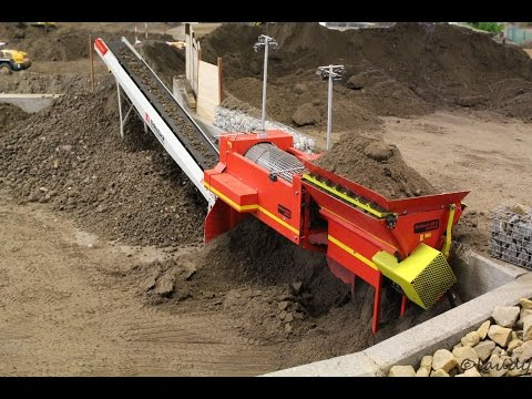 Group of Germans working a Mini Construction site with RC Machines