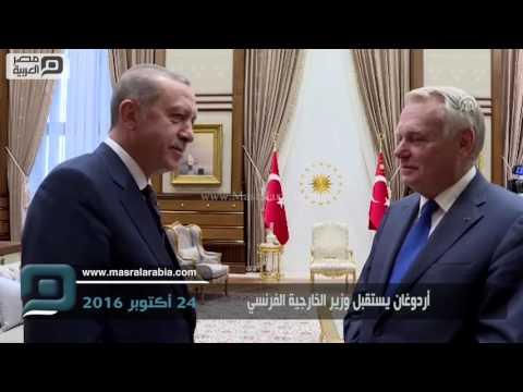 مصر العربية   أردوغان يستقبل وزير الخارجية الفرنسي