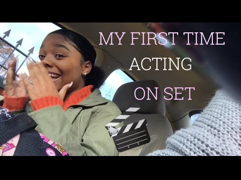 MY FIRST TIME ACTING ON SET 🎬
