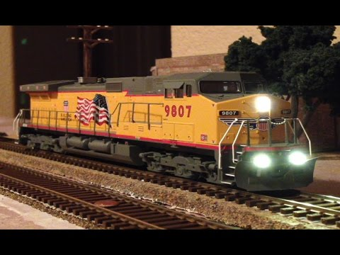 Makeover: HO Scale, Athearn RTR, C44-9W, UP 9807