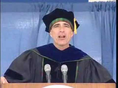 pausch - Professor Randy Pausch made a surprise return to Carnegie Mellon University to deliver an inspirational speech to the Class of 2008 at the Commencement cerem...