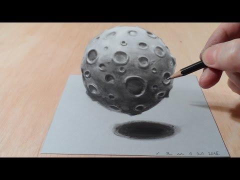 剛開始還不明白他只是畫個月球而已有什麼好特別的,剪刀一拿出來後我立馬狂讚!