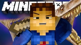 FIGHTING DINOSAURS! (Minecraft Hunger Games with Woofless and Lachlan!)