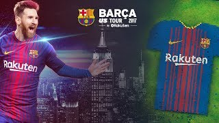 #BarçaUSTour Are you ready for the largest human soccer jersey ever? 📍 Bryant Park (NYC) ⌚️ 09:30 AM 📅 Saturday, July 22nd ---- FC Barcelona on Social Media ...