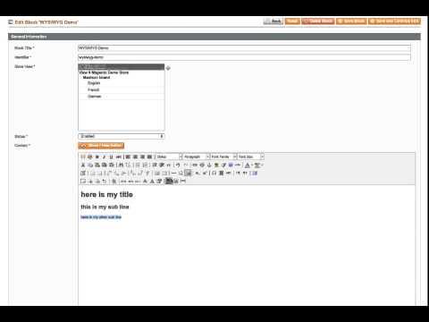 Magento WYSIWYG text formatting issues