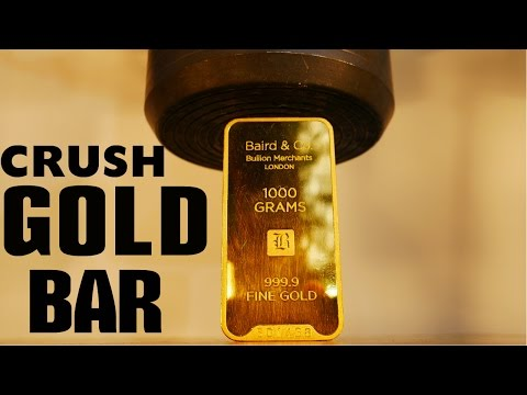 Crushing 40 000 Gold Bar With Big Hydraulic