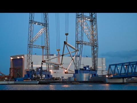Heavy Lift Crane 1,400 Tons ST³ Offshore Wind Farm Borkum Riffgrund 2 Ørsted
