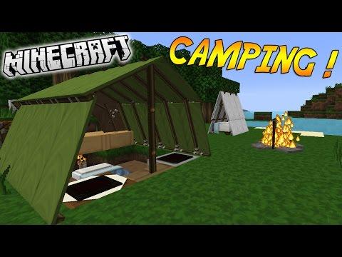 """CAMPING, FEU DE CAMP ET TENTES !   Présentation du NO mod """"CAMPING""""! - [1.8.1] видео"""