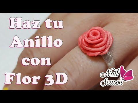 Diseños de uñas - Flor 3D con anillo de acrilico paso a paso - La malnombrada flor 5D