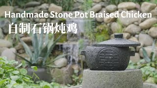 DIY chiseled stone cooking pot
