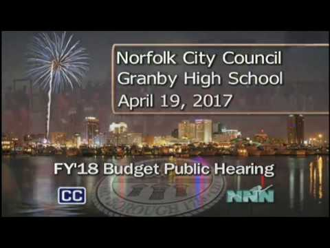 Norfolk FY'18 Budget Public Hearing - 04/19/17