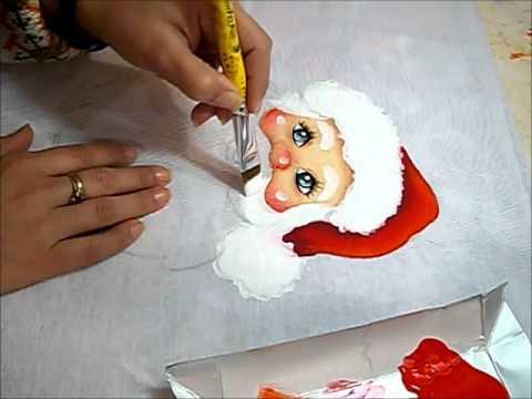 PINTURA EM TECIDO - Barba e Touca do Papai Noel