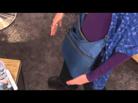 Travelon Anti-Theft Drape Pocket Crossbody with Sharon Faetsch