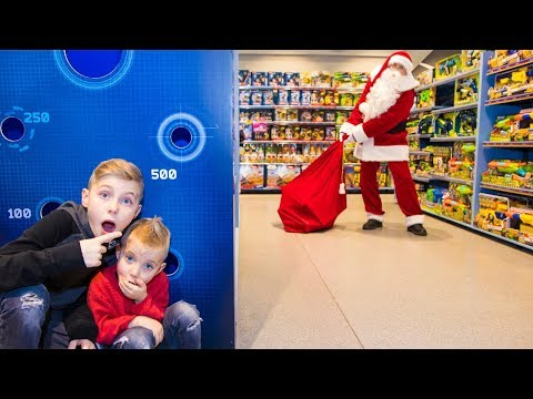Настоящий САНТА в супермаркете!!!A LIVE SANTA in the supermarket! (видео)