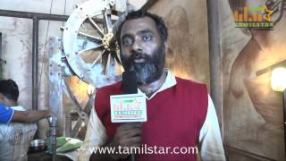 Sridhar Speaks at Andhra Mess Shooting Spot