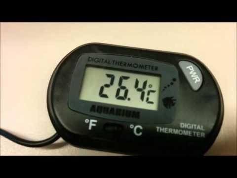 [FAIL] Digital aquarium thermometer experiment - Boiling Water Test