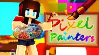 Minecraft Pixel Painters 'SUMMER HALLOWEEN?' w/ Facecam