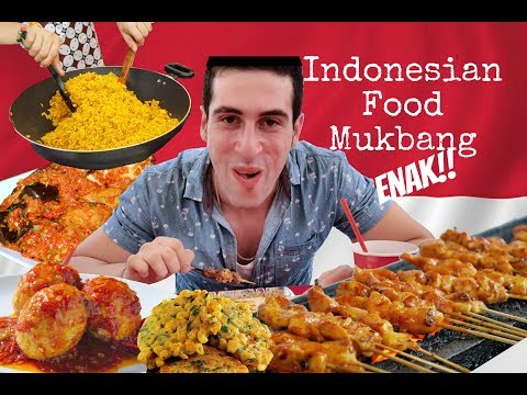 Syrian Eating INDONESIAN Food For The FIRST TIME! AMAZING FOOD Mukbang!
