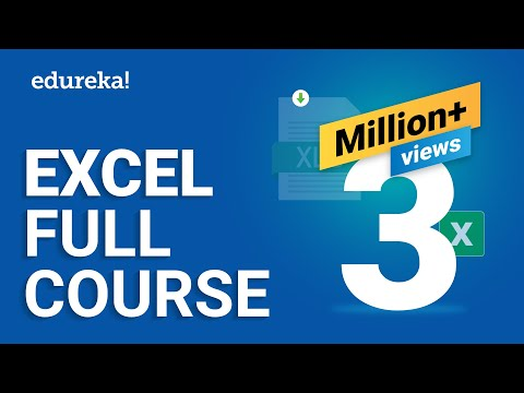 Microsoft Excel Tutorial For Beginners | Excel Training | Excel Formulas And Functions | Edureka