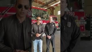 ابراز همدردی آتشنشانی لوس آنجلس در آمریکا با مردم ایران