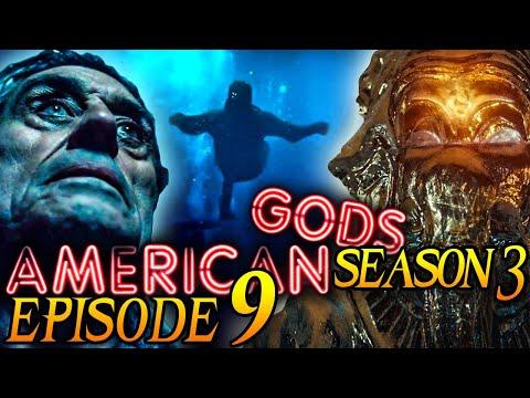 """American Gods Season 3 Episode 9 Breakdown + Easter Eggs Explained! """"The Lake Effect"""""""