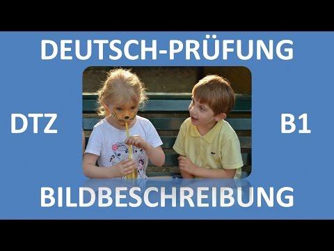 B1-Prüfung (DTZ) -- mündliche Prüfung -- Bildbeschreibung (Junge und Mädchen) -- Deutsch lernen