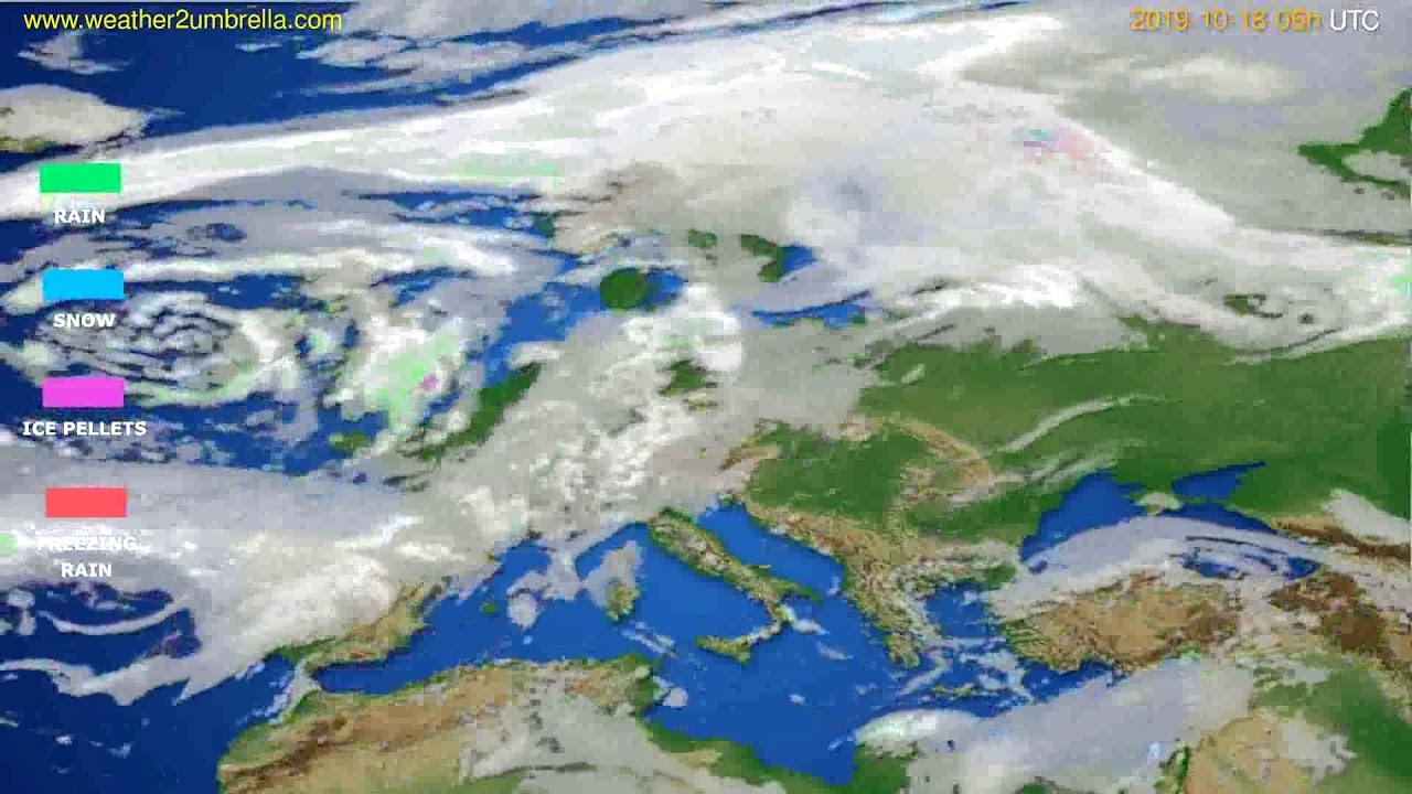 Precipitation forecast Europe // modelrun: 00h UTC 2019-10-16
