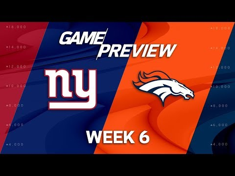 Video: New York Giants vs. Denver Broncos | Week 6 Game Preview | NFL Playbook