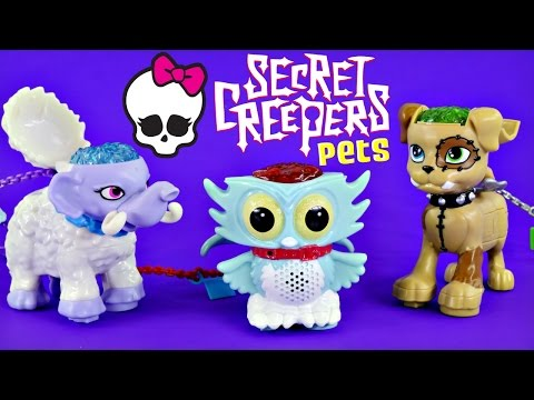 toys - Monster High Unique Pets Sir Hoots-a-Lot the MH Owl, Watzit MH Puppy Dog and Shiver the Woolly Mammoth. Monster High Secret Creepers Pets let you record and share secrets electronically. Each.
