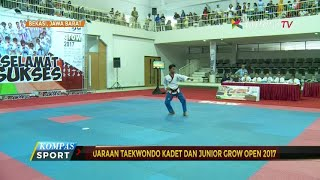 Ratusan atlet taekwondo se-Jawa Barat mengikuti pertandingan hari pertama pada kejuaraan taekwondo kadet dan junior, Grow Open 2017. Di nomor Poomsae, kelas junior putra, Naufal Ali berhasil membawa pulang medali emas, sedangkan di nomor Kyorugi, Anggi Kanza berhasil menaklukkan Amanda Putri dengan skor 14 – 6.
