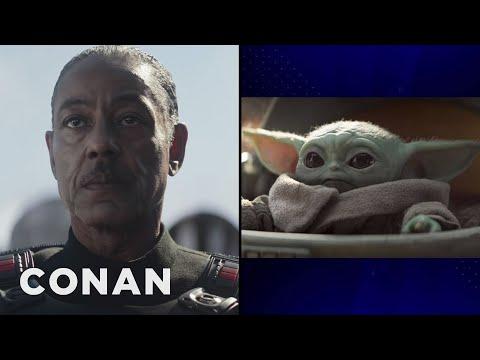 "Giancarlo Esposito On His Mysterious Role In ""The Mandalorian"" & Baby Yoda - CONAN on TBS"