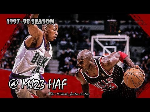 Michael Jordan vs Ray Allen Highlights Bulls vs Bucks (1998.01.16) - Ray Gun raining 3s!