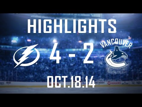 Canucks - The Canucks come from behind twice and rack up 32 shots on goal but eventually fall short to the Lightning 4-2 giving Vancouver defeat number one on the season. Chris Higgins and Alex Edler...